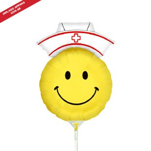 BALÃO METALIZADO MINI SMILEY NURSE 14 GRABO