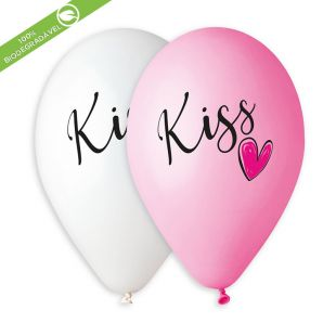 "BALÃO DE LÁTEX KISS AND HEART GS120 COM 25 UNIDADES -13"""" (APROX. 33CM)"