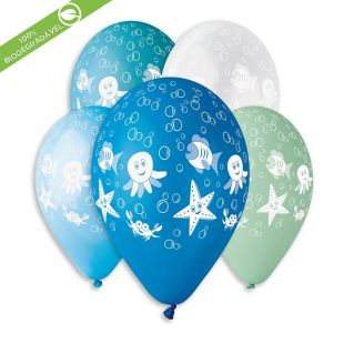 "BALÃO DE LÁTEX UNDER THE SEA GS120 COM 25 UNIDADES -13"""" (APROX. 33CM)"