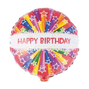 BALÃO METALIZADO HAPPY BIRTHDAY STARS 18 FUNNY FASHION
