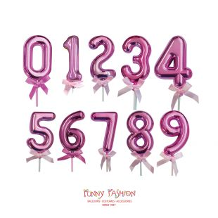 CAKE TOPPERS NUMEROS PINK