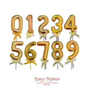CAKE TOPPERS NUMEROS OURO